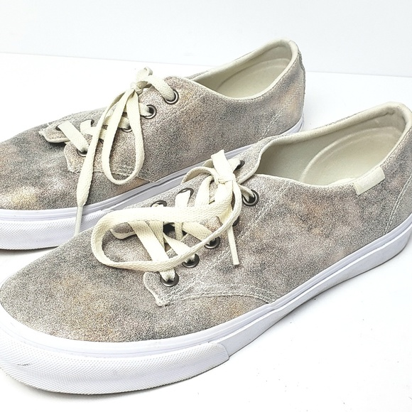 vans shoes holographic beige cream sneakers size 10 poshmark